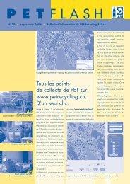 PETflash édition No. 29 septembre 2004 - PET-Recycling Schweiz