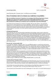 Communiqué de presse du 06.07.2006 - PET-Recycling Schweiz