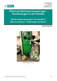 Studie Swiss Recycling – Auswirkungen Pfand - PET-Recycling ...