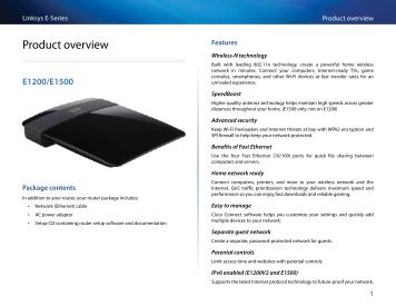 Linksys E-Series Routers User Guide