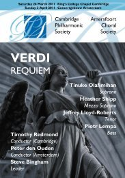 Programme (PDF 780 kB) - Cambridge Philharmonic Society