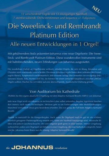 Die Sweelinck- und Rembrandt Platinum Edition - SakralorgelWELT