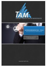 Seminarauswahl der TAM Trainer Agentur Berlin Brandenburg