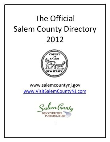 The Official Salem County Directory 2012