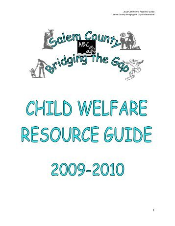 2010 Community Resource Guide Salem County Bridging the Gap ...