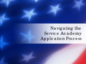 Guide to US Service Academy Admissions - Salem High School