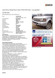 Druckansicht: Land Rover Ra... - Sales Auto Klub