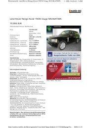 Land Rover Range Rover TDV8 Vouge ... - Sales Auto Klub