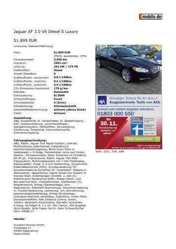 Druckansicht: Jaguar XF 3.0... - Sales Auto Klub