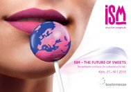 ISM – THE FUTURE OF SWEETS - SalesCatalog.de