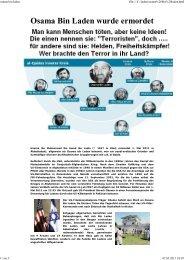 Der Mord an Osama Bin Laden - Salfena.net