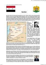 Syrien - Esoterik heisst: Neues Denken, neues Leben