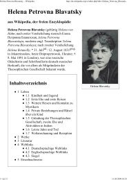 Helena Petrovna Blavatsky - Esoterik heisst: Neues Denken, neues ...