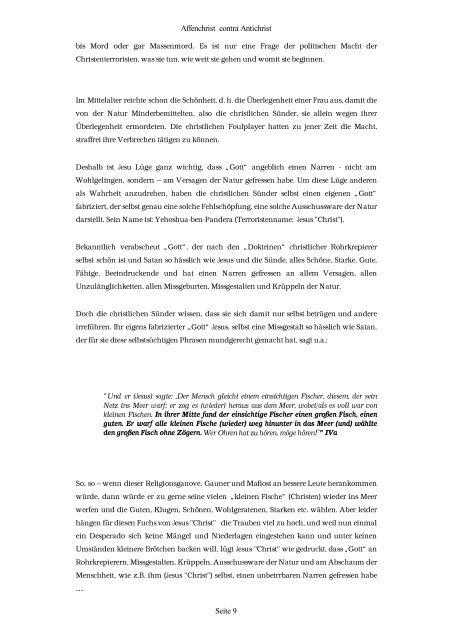 Affenchrist€ contra Antichrist - Salfena.net