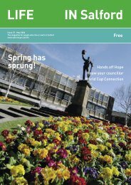 LIFE IN Salford - Issue 37 - Salford City Council