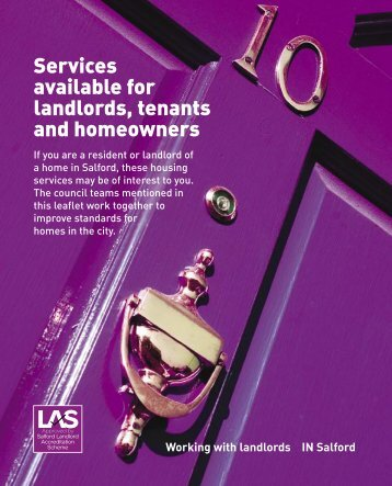 Services available for landlords, tenants and homeowners