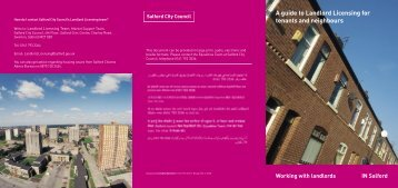 Tenants Guide to Landlord Licensing - Salford City Council