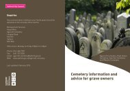 Cemetery information and advice for grave owners