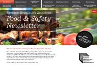 Food & Safety Newsletter - Salford City Council
