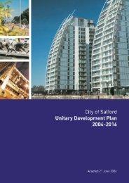 City of Salford Unitary Development Plan 2004 - Salford City Council