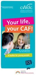 your CAF! - Lancashire County Council