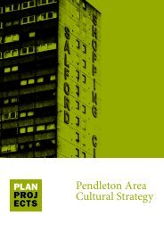 Pendleton Area Cultural Strategy - Salford City Council