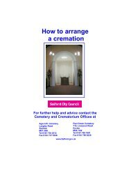 How to arrange a cremation - Salford City Council