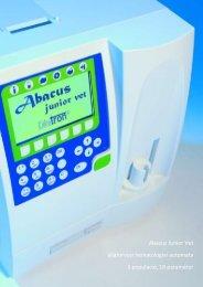 Abacus Junior Vet állatorvosi hematológiai automata 3 ... - Diatron