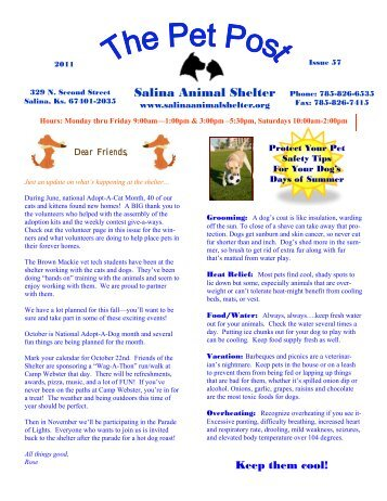 Pet Post Issue 57 - Salina Animal Shelter
