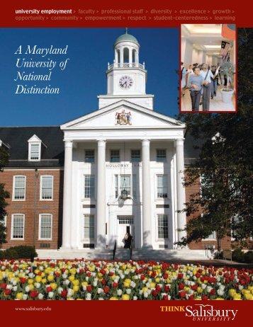 Diversity Recruiting inside - Salisbury University