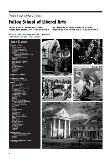 Fulton School of Liberal Arts - Salisbury University
