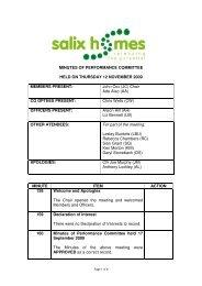 Thursday 12 November 2009 - Salix Homes