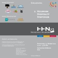 Einladung 2. Heilbronn Hospitality Symposium - SALOMON ...