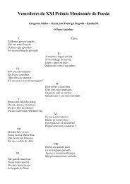 Vencedores do XXI Prêmio Moutonnée de Poesia