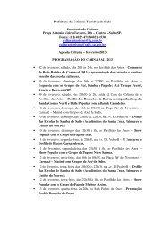 Agenda Cultural – fevereiro/2013 - Prefeitura da Estância Turística ...