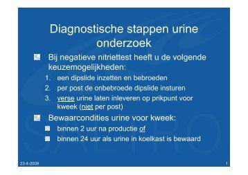 Diagnostische stappen urine onderzoek - Saltro