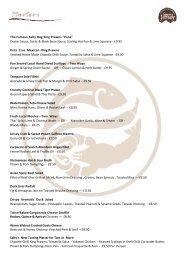 Download Menu PDF - Salty Dog Bar & Bistro