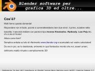 Blender software per grafica 3D ed oltre... - SaLUG