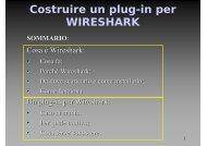 Costruire un plug-in per WIRESHARK - SaLUG