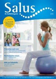 Ihr Gutfühlmagazin Ausgabe 2-2013 - Salus BKK