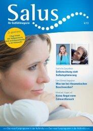 Ihr Gutfühlmagazin 4/13 Zu gewinnen Selbstachtung ... - Salus BKK