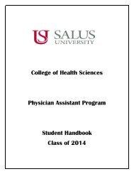 PHYSICIAN ASSISTANT STUDIES - Salus University