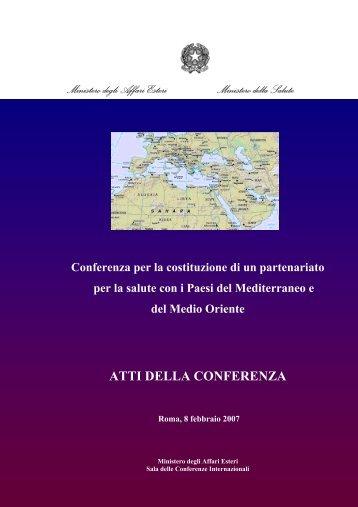 Atti Conferenza - Ministero della Salute