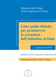 Linee guida cliniche per promuovere la ... - Treatobacco.net