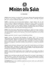 Decreto 1 marzo 2013 - Ministero della Salute