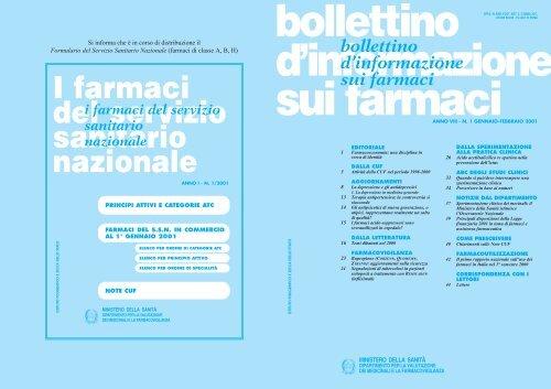 I farmaci del servizio sanitario nazionale - Ministero della Salute