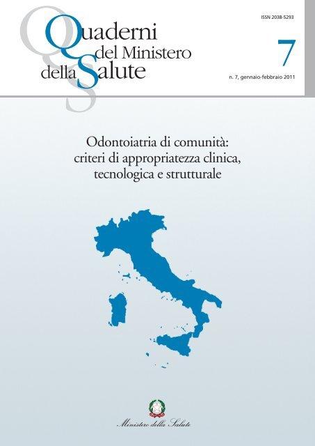 Odontoiatria di comunità - Quaderni del Ministero della Salute