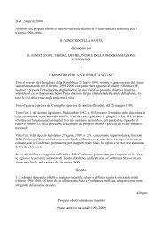 DM 24 aprile 2000 Adozione del progetto obiettivo materno-infantile