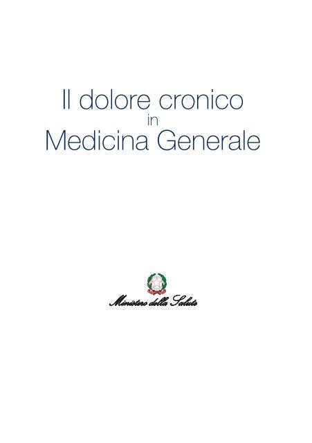 Il dolore cronico Medicina Generale - Ministero della Salute