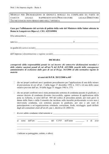 Mod. 1-bis Impresa singola - Ministero della Salute